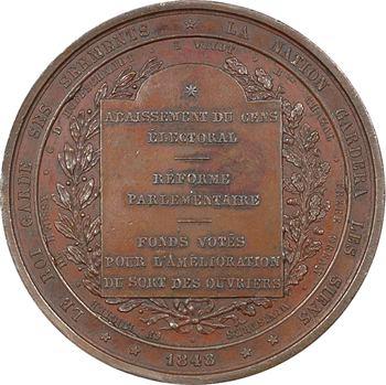 Belgique, Léopold fidèle à la Constitution, 1848 Bruxelles
