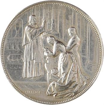 IIIe République, médaille de mariage par lagrange, 1912 Paris
