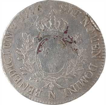Louis XVI, écu aux rameaux d'olivier, 1776 Montpellier