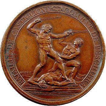 Directoire, Bonaparte, bataille de Castiglione et combat de Peschiera, An 4 (1796) Milan