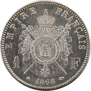 Second Empire, 1 franc tête laurée, 1868 Paris
