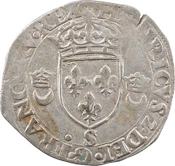 Henri II, douzain aux croissants, 1549 Troyes