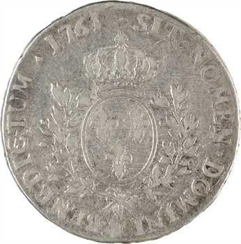 Louis XV, écu au bandeau, 1761 Aix-en-Provence