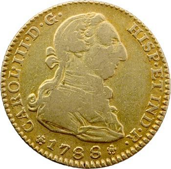 Espagne, Charles III, 2 escudos, 1788 Madrid