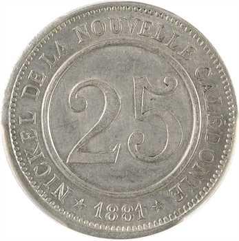 Nouvelle-Calédonie, Société le Nickel, 25 centimes, frappe médaille, 1881, PCGS SP62