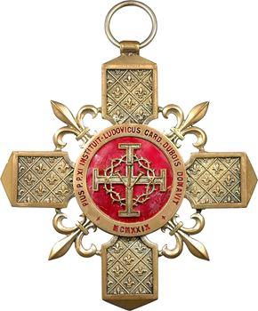France, IIIe République, Croix du Chapitre de Paris, au Cardinal Dubois, 1929