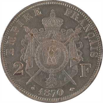 Second Empire, 2 francs tête laurée, 1870 Paris