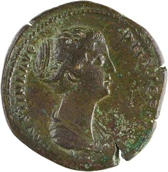 Faustine Jeune, sesterce, Rome, 154-156
