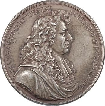 Louis XIV, Jean Warin intendant de la Monnaie, par Dufour, 1684 (postérieur) Paris