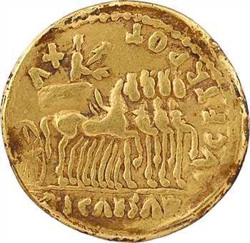 Auguste, aureus, Lyon, 13-14