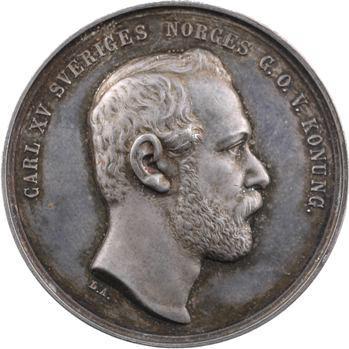 Suède, Charles XV, centenaire de l'Académie de Musique, 1771-1871 Stockholm