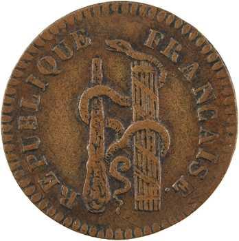 Convention, essai de 10 centimes à la massue, An 3 (1794-1795) Paris