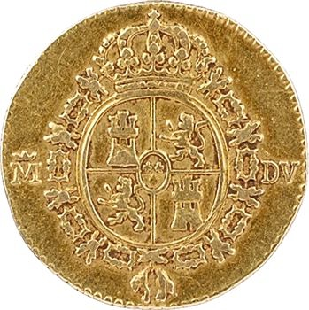 Espagne, Charles III, 1/2 escudo, 1786 Madrid
