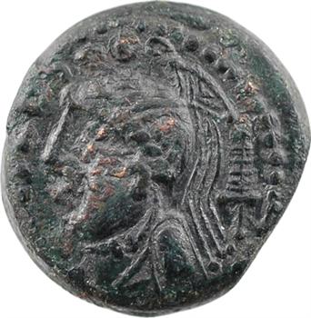 Carnutes ou Aulerques Éburovices, bronze PIXTILOS au lion, classe IX, c.40-30 av. J.-C.