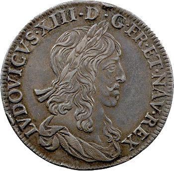 Louis XIII, demi écu, premier poinçon, 1642 Paris (rose)