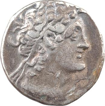 Égypte, Ptolémée IX Soter et Cléopâtre III, tétradrachme, Alexandrie, An 8 = 110-109 av. J.-C