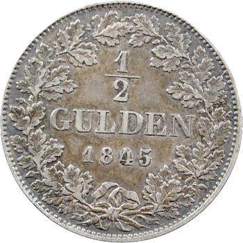 Allemagne, Francfort, 1/2 florin, 1845