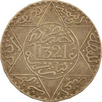 Maroc, Abdül Aziz I, 5 dirhams, AH 1321 (1903) Paris