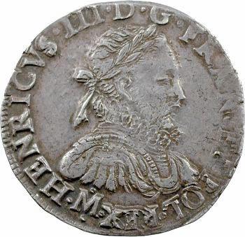 Henri III, teston 3e type, 1576 Toulouse