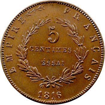 Napoléon II, essai de 5 centimes, 1816 (1860) Bruxelles