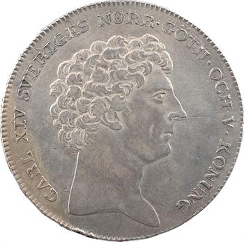 Suède, Charles XIV Bernadotte, riksdaler 2e type, 1825 Stockholm