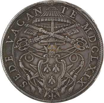 Vatican, siège vacant (cardinal Antonio Barberini), piastre, 1669 Rome