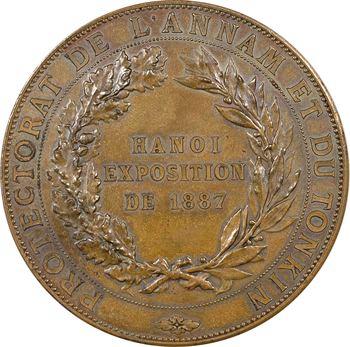 Indochine, Annam-Tonkin, exposition de Hanoï, médaille, 1887