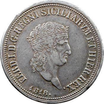 Italie, Naples et Deux-Siciles, Ferdinand Ier, 120 Grana petite tête, 1818