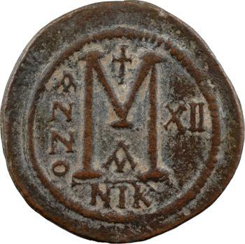 LOT RETIRÉ – Justinien Ier, follis, Nicomédie, 1re officine, An XII = 538-539