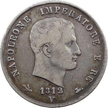 Italie, Napoléon Ier, 5 lire, 1812 Venise