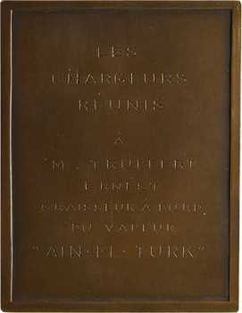 Tunisie, Compagnie des Chargeurs Réunis, le laveur Ain-el-Turk, par Bénard, 1939-1940 Paris