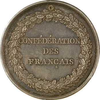 Constitution, Confédération des Français, détournée en médaille de mariage, 1790 (1792) Paris