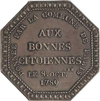 Louis XVI, Aux bonnes citoiennes, par Duvivier, 1789 (post.) Paris