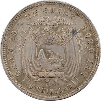 Équateur (République d'), sucre, 1884 Heaton Birmingham