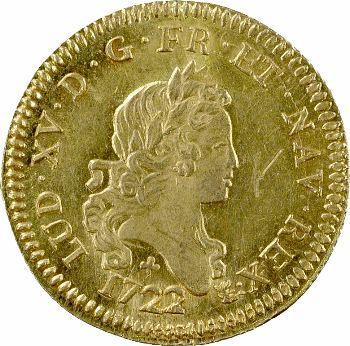 Louis XV, louis d'or aux deux L, 1722 Orléans