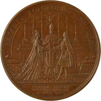 Louis XV, mariage du Roi avec Marie Leszczynska, par Duvivier et Dollin, 1725 Paris