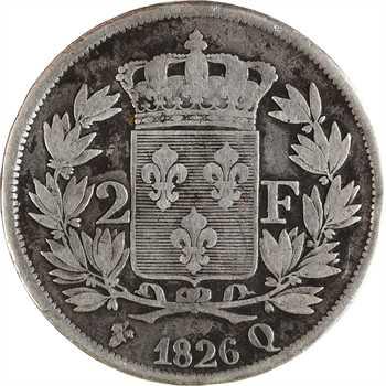 Charles X, 2 francs, 1826 Perpignan