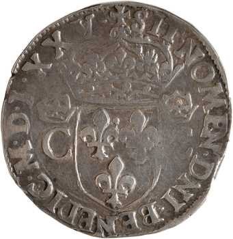 Henri III (au nom de Charles IX), teston 2e type, 1575 Rennes