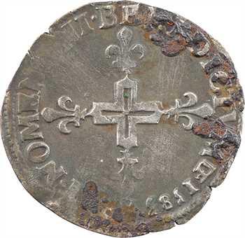 Henri III, double sol parisis, 2e type, 1583 Troyes