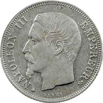 Second Empire, 1 franc tête nue, 1860 Paris