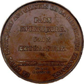 Consulat, promulgation du Traité d'Amiens, An X, 1802 Paris