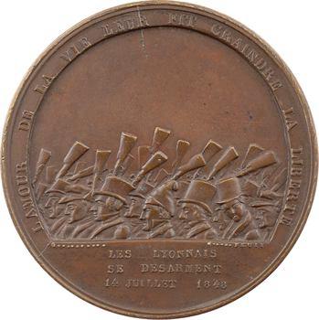 IIe République, Lyon, le désarmement de la Garde Nationale, 1848