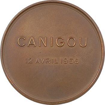 IVe République, Forges et chantiers de la Méditeranée, lancement du Canigou, par Darsy, 1956 Paris