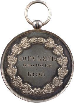 IIIe République, Villemomble, médaille de Certificat d'études, 1895 Paris