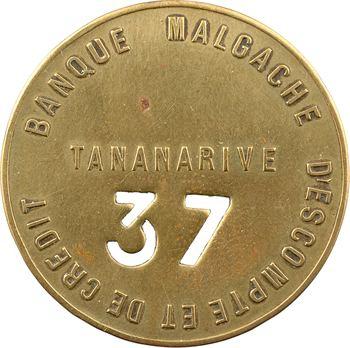 Madagascar, Tananarive, plaque de commissionnaire à la Banque malgache d'escompte et de crédit, s.d