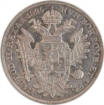 Italie, Lombardie-Vénétie, François-Joseph Ier, 1/2 scudo, 1825 Venise