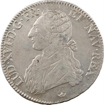 Louis XVI, écu aux branches d'olivier, 1777 Toulouse