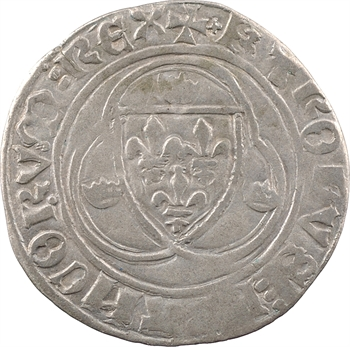 Charles VII, blanc à la couronne, 1re émission, Troyes