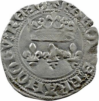 Charles VII, blanc aux lis accotés, Orléans