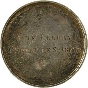 Louis-Philippe Ier, jeton détourné en médaille de mariage, Alexandre de Fleury, 1834